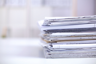 Stack of papers smaller size