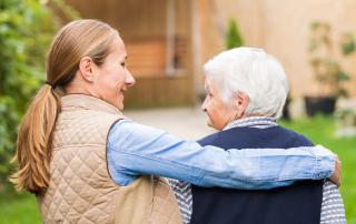 Caring for elderly parent - smaller size