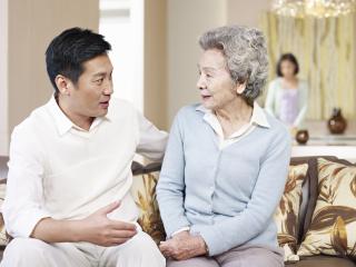 Talking with elderly parent